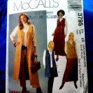 McCalls Pattern # 3795 UNCUT Misses Vest Variations Jumper Skirt