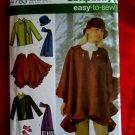 Simplicity Pattern # 4783 UNCUT Misses Jacket Poncho Hat Mittens Large XL