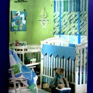 Butterick Pattern #4947 UNCUT  Waverly  Infant's room Crib Sheet Bedskirt Bumpers shades