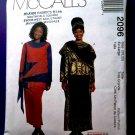 McCalls Pattern # 2096 UNCUT Misses Dress Top Skirt Hat Size 20 22