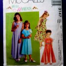 McCalls Pattern # 3147 UNCUT Girls Special Occasion Dress Size 10 12 14