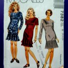 McCalls Pattern # 7382 UNCUT Misses Dress Flounce Hem Size 20 22 24