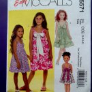 McCalls Pattern # 5571 UNCUT Girls Dress Size 3 4 5 6
