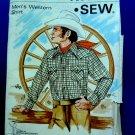 Kwik Sew Pattern # 457 UNCUT Mens Western Cowboy Shirt Size 36 38 40
