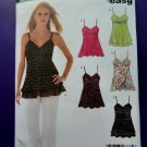 New Look Pattern # 6466 UNCUT Misses Summer Top Spaghetti Straps Size 10 12 14 16 18 20 22