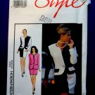 Style Pattern # 2028 UNCUT Misses Lined Jacket Skirt Blocked Size 6 8 10 12 14 16