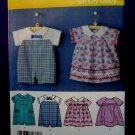 Simplicity Pattern # 3896 UNCUT Baby Romper Dress Panties Size XXS Small Medium Large