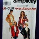 Simplicity Pattern # 7109 UNCUT Misses Reversible Jacket Size Large XL