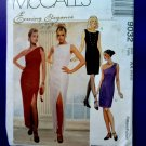 McCalls Pattern # 9032 UNCUT Misses Lined Evening Dress Off the Shoulder Size 4 6 8