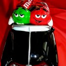 M&M Ceramic CAR Candy Dish Black and Silver