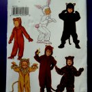 Butterick Pattern # 231 UNCUT Kids Costume SIZE 6 Lion Rabbit Bear Monkey