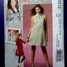 McCalls Pattern # 5512 UNCUT Dress Leggings Size 10 12 14 16 Hillary Duff