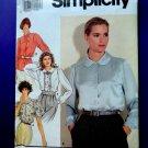 Simplicity Pattern # 7379 UNCUT Misses Blouse Size 6 8 10 12 14