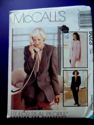 McCalls Pattern # 9023 UNCUT Misses Jacket Top Pants Size 14
