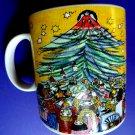 Vintage 1993 Marshall Fields Dayton Hudson Christmas Mug