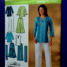 Simplicity Pattern # 4149 UNCUT Misses Skirt Pants Tunic Scarf Size 10 12 14 16 18