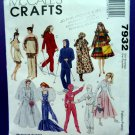 McCalls Pattern # 7932 UNCUT Barbie Fashion Doll Wardrobe Costume