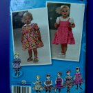 Simplicity Pattern # 2707 UNCUT Baby Toddler Dress Skirt Panties Size XS  Small Medium Large
