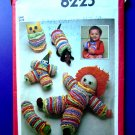 Simplicity Pattern # 8225 UNCUT Toy Package Doll Owl Dog Clown Caterpillar