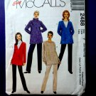 McCalls Pattern # 2488 UNCUT Misses Pants Top Size Small Medium Large