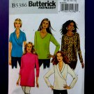 Butterick Pattern # 5386 UNCUT Misses Blouse Variations Size 8 10 12 14