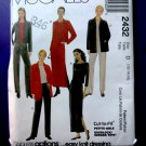 McCalls Pattern # 2432 UNCUT Misses Jacket Pants Skirt STRETCH KNITS Size12 14 16
