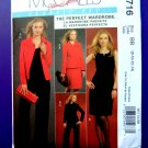 McCalls Pattern # 5716 UNCUT Wardrobe Lined Jacket Dress Pants Size 8 10 12 14