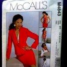 McCalls Pattern # 4843 UNCUT Misses Wardrobe Jacket Pants Top Skirt Size 16 18 20 22