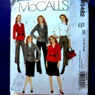 McCalls Pattern # 5482 UNCUT Misses Wardrobe Jacket Pants Skirt in sizes 14, 16, 18 and 20.