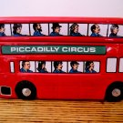 Rare Vintage Marshall Field's Piccadilly Circus Red Bus Cookie Jar