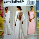 Butterick Pattern # 5779 UNCUT Misses Bridal Wedding Gown Dress Bridesmaids Size 12 14 16 18 20