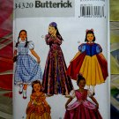 Butterick Pattern # B 4320 UNCUT Girls Child Costume Dorothy  Size 7 8 10 12 14