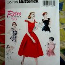 Butterick Pattern # 5708 UNCUT Misses Dress Retro Vintage 1953 Size 14 16 18 20 22