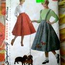Simplicity Pattern # 3706 UNCUT Misses Poodle Skirt Top Size 16 18 20 22
