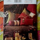 Vogue Pattern # 7816 UNCUT Home Accessories Pillow Chair Cover Runner