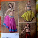 Simplicity Pattern # 2158 UNCUT Misses Dance Costume Belly Dancing Size 14 16 18 20 22
