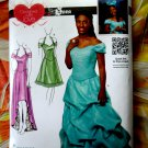 Simplicity Pattern # 1875 UNCUT Misses Gown Dress Size 12 14 16 18 20