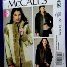 McCalls Pattern # 6456 UNCUT Misses Reversible Lined Jacket Size Large XL XXL