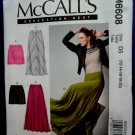 McCalls Pattern # 6608 UNCUT Misses Skirt Variations STRETCH KNITS Size 12 14 16 18 20.