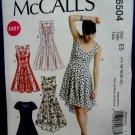 McCalls Pattern # 6504 UNCUT Misses Summer Dress Size 14 16 18 20 22