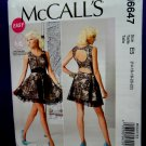 McCalls Pattern # 6647 UNCUT Misses Dress Size 14 16 18 20 22