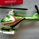 New Glass Christmas Ornament Helicopter