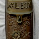 Antique Metal Brass Mail Box Mailbox