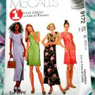 McCalls Pattern # 9172 UNCUT Misses Dress One Hour Size 20 22 24