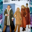 Simplicity Pattern # 9478 UNCUT Misses Coat Scarf Bag Size Large XL