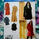 Simplicity Pattern # 3672 UNCUT Misses Womans COAT Size 18 20 22 24