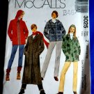 McCalls Pattern # 3025 UNCUT Misses Coat Variations POLAR FLEECE Size Medium Large XL