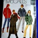 McCalls Pattern # 3025 UNCUT Misses Coat Variations POLAR FLEECE Size Medium Large XL