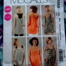 McCalls Pattern # 6359 UNCUT Summer Tunic Variations Size 18 20 22 24