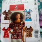 McCalls Pattern # 5588 UNCUT Misses Tunic Top Size 14 16 18 20 22